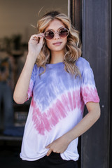 Blue - Ultra Soft Tie-Dye Tee