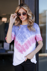 Model wearing an Ultra Soft Tie-Dye Tee