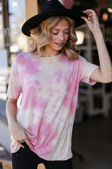 Pink - Ultra Soft Tie-Dye Tee from Dress Up