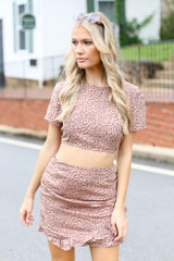 Spotted Open Back Crop Top from Dress Up