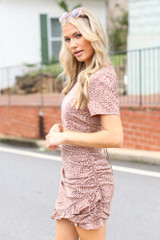 Spotted Ruffled Skirt Side View
