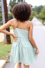 Textured Tiered Dress Back View