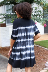 Tie-Dye Swing Dress Back View