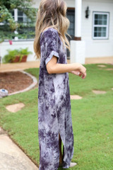 Tie-Dye Maxi Dress Side View