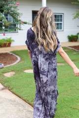 Tie-Dye Maxi Dress Back View