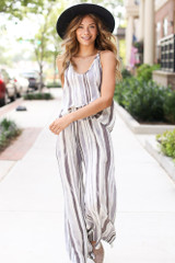Dress Up model wearing a Striped Tank with the matching pants