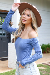 Blue - Off-the-Shoulder Bodysuit from Dress Up