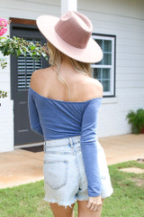 Off-the-Shoulder Bodysuit Back View