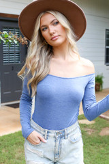 Dress Up model wearing an Off-the-Shoulder Bodysuit
