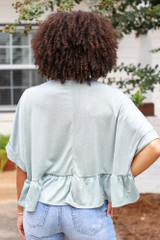 Ruffled Oversized Top Back View