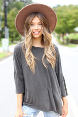 Black - Oversized Soft Knit Top from Dress Up