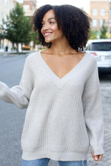 Light Grey - Oversized Sweater from Dress Up