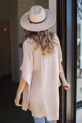 Lightweight Kimono in Taupe Back View