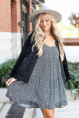 Black - Tiered Floral Dress from Dress Up