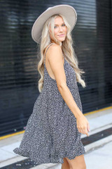 Tiered Floral Dress Side View