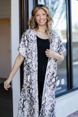 Grey - Snakeskin Kimono from Dress Up
