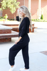 Jersey Knit Jumpsuit Side View