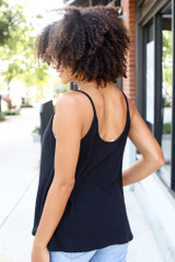 Textured Tank in Black Back View