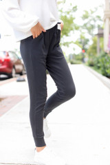 Drawstring Joggers Side View