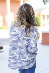 Oversized Camo Top Back View