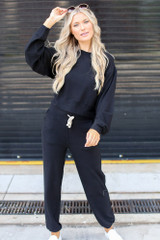 Black - Brushed Knit Joggers from Dress Up