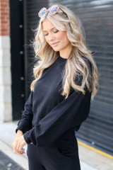 Black - Brushed Knit Pullover from Dress Up