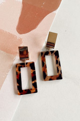 Flat Lay of Leopard Statement Earrings