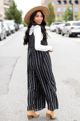 Striped Jumpsuit Back View