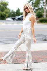 Distressed Star Flare Jeans Side View