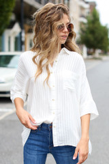 Ivory - Oversized Blouse from Dress Up