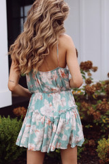 Floral Romper Back View
