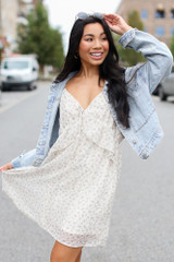 Ivory - Floral Ruffle Dress from Dress Up