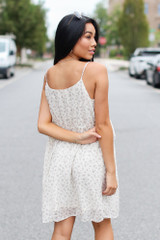 Floral Ruffle Dress Back View