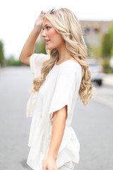 Oversized Peplum Top Side View