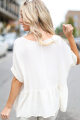 Oversized Peplum Top Back View