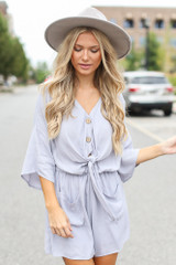 Lilac - Tie-Front Romper from Dress Up