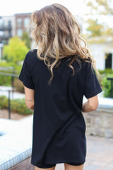 Oversized Split Hem Tee Back View