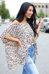 Leopard Oversized Knit Top Side View