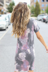 Tie-Dye Knotted Dress Back View