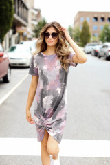 Purple - Tie-Dye Knotted Dress from Dress Up