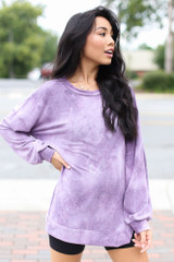 Purple - Oversized Tie-Dye Pullover from Dress Up