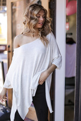 Heather Grey - Soft Knit Oversized Top from Dress Up