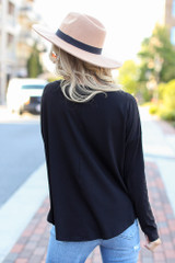 Basic Oversized Tee in Black Back View