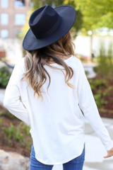 Basic Oversized Tee in White Back View