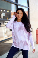 Mauve - Oversized Tie-Dye Top from Dress Up
