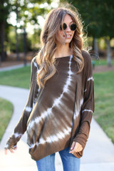 Olive - Oversized Tie-Dye Top from Dress Up