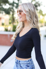 Basic Crop Top Side View
