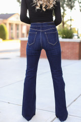 High-Rise Flare Jeans Back View