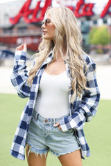 Chelsea ATL Baseball Flannel Front View