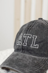 Close Up of the ATL Vintage Baseball Hat